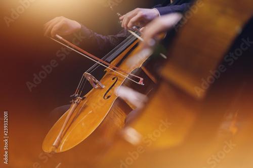 Leinwand Poster violoncelle musique classique orchestre archet corde instrument symphonique musi