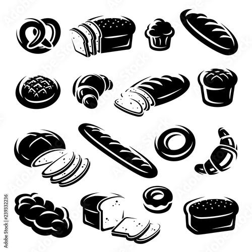 Fototapeta Bread set. Vector obraz
