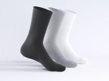 White Socks, Socks Mockup 3d R...