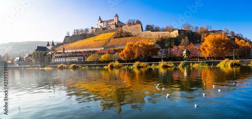 Beautiful medievla Wurzburg town - famous