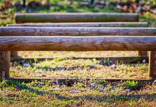 Fotografie, Obraz  Wood obstacles park