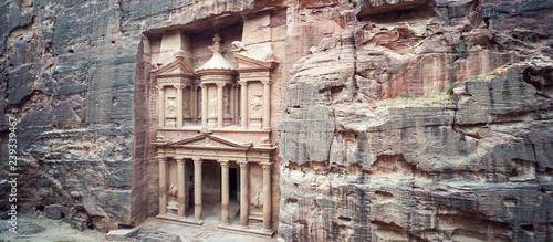 ancient treasury in Petra Jordan seen from the Siq Fototapeta