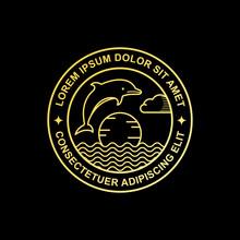 Line Art Dolphin Logo