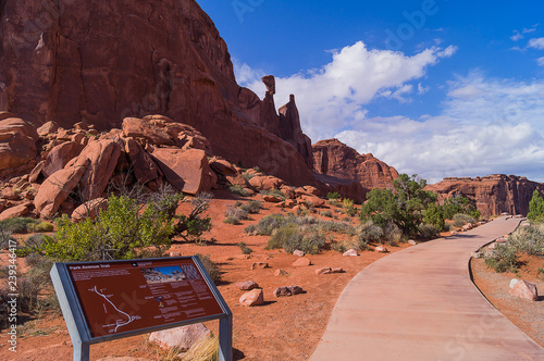 Lanscape the Arches National Park in Utah, United States.