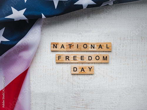 Fotografía  National Freedom Day USA Background