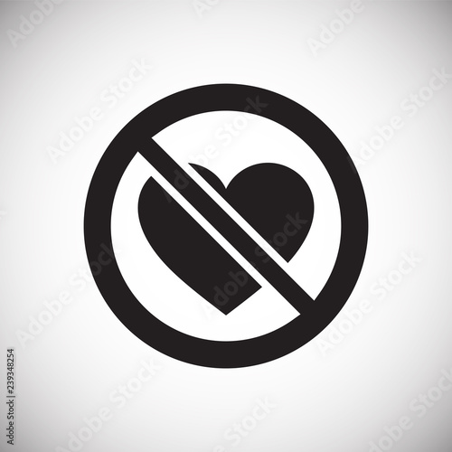 No love icon on white background for graphic and web design