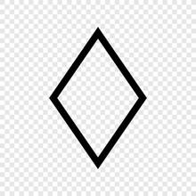 Diamond Vector Icon Transparent Grid