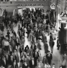 Long Exposure Of Commuters In Grand Central Terminal, New York City