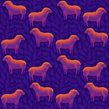 A Flock Of Sheep Seamless Patt...