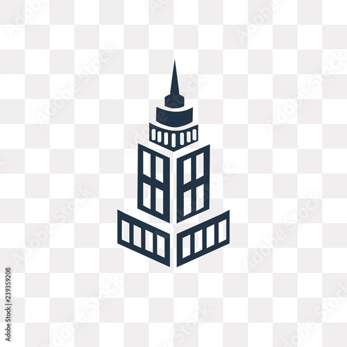 Tablou Canvas State Building vector icon isolated on transparent background, State Building  t