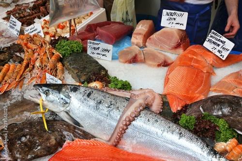 Tableau sur Toile UK fish store
