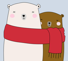 Two Cute Bears Wrapped In One ...