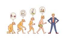 Vector People Evolution Concep...