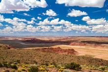 Wide Open Land Of The Panited Desert In Arizona, USA