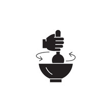 Stirring Pot Black Vector Conc...