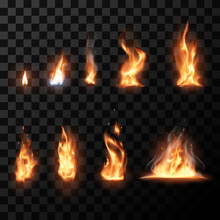 Realistic Flame Set