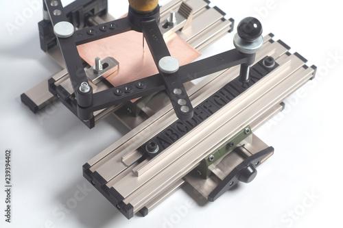 Engraving device pantograph with CNC engraver with letterpress alphabet Tapéta, Fotótapéta