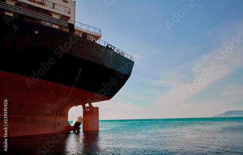 In de dag Schipbreuk cargo ship stranded