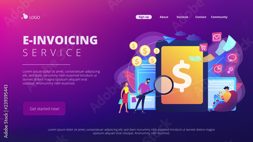 Clients with magnifier get e-invoicing and pay bills online