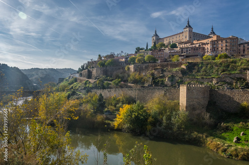 Cityscape of the Medieval city of Toledo, Spain, Europe
