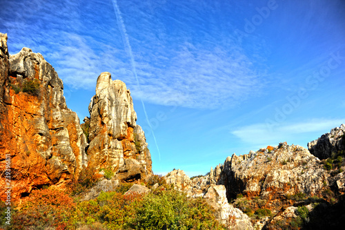 Panoramic view of Cerro del Hierro (The Iron Hill), eroded landscape of old aban Wallpaper Mural