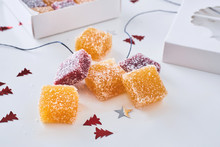 Jellied Fruit Candies With Sugar
