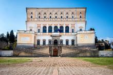 The Villa Farnese (in Italian Palazzo Farnese), A Mansion In The Town Of Caprarola Near Viterbo, Northern Lazio, Italy