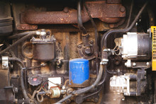 Tractor Engine Compartment, Tractor Pump Pump System, Motor