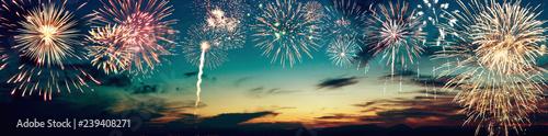 Wunderschönes Feuerwerk Fototapet