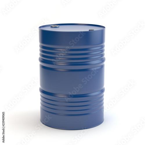 Blue steel barrel Fototapete