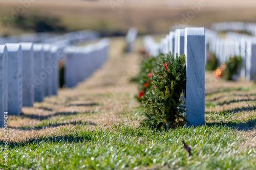 Aluminium Prints Garden National Cemetery During The Holiday Season