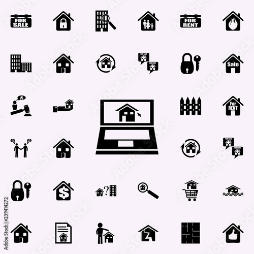 online sale of houses icon. Real estate icons universal set for web and mobile