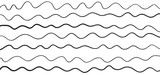 Pattern with lines and waves. Universal texture. Abstract dinamic background. Doodle for design. Lineal wallpaper. Print for polygraphy, t-shirts and textiles. Decorative style. Line art creation - 239414804