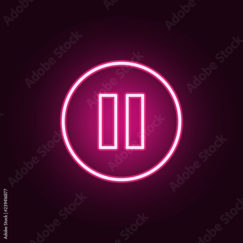 pause sign in a circle icon Slika na platnu