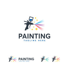 Magic Painting Logo Designs Te...