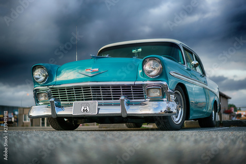La pose en embrasure Vintage voitures 56 Chev