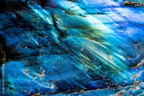 Canvas Prints Macro photography This is a macro photo of a blue crystal moonstone. I used special lighting to bring out the mineral textures. and saturated colors.