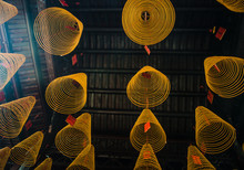 Coiled Incense Hanging From Th...