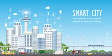 Smart City On Urban Landscape ...