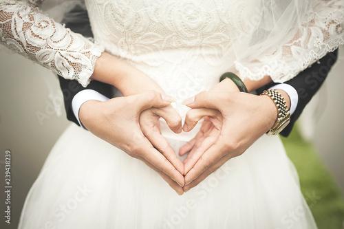bride and groom Fototapeta