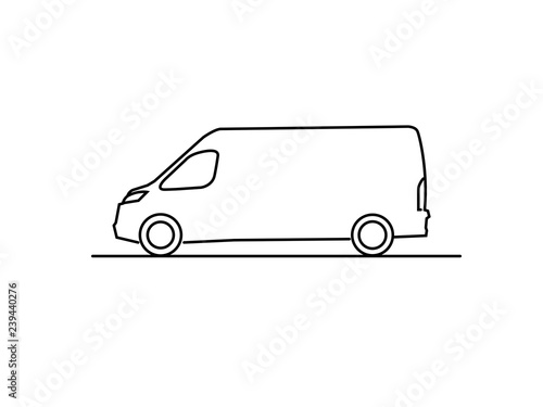 Transportation Van Line Drawing Sketch Buy This Stock