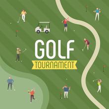 People Enjoying Golf In The Fi...