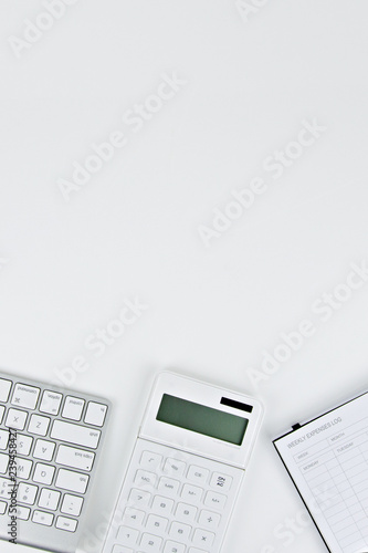 notebook and pen on white background - 239458427