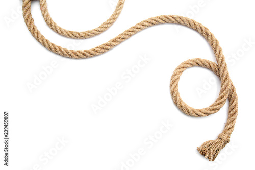 Obraz Rope on white background - fototapety do salonu