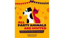 Pet Party Poster Template. Vec...