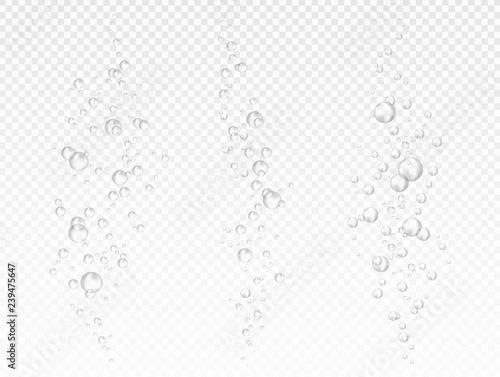 Vector air bubbles on light transparent background Fototapet