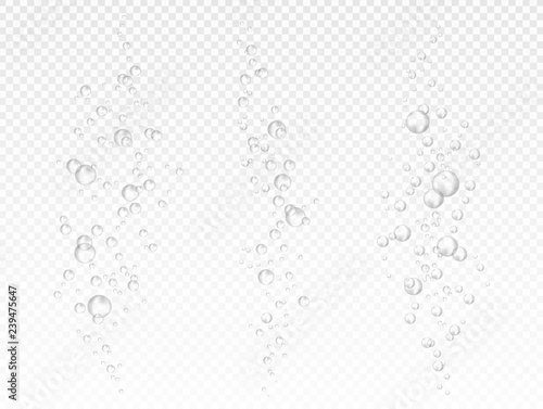 Vector air bubbles on light transparent background Fotobehang