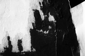 Blank white black creased c...