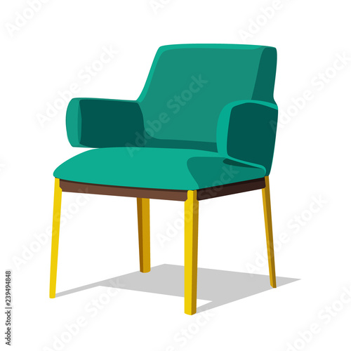 Modern Colorful Soft Armchair With Upholstery. Armchairs For Room Design  Games. Cushioned Furniture, Room Decoration, Interior Design Isolated On  White.