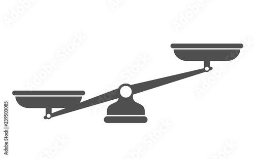 Obraz Scales, Flat design, Libra, vector illustration isolated on white background - fototapety do salonu